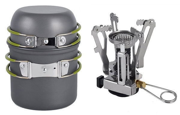 cooking sets isport camp stove camping stove cookware for hiking backpacking cookware for trekking cooking set piezo ignition stove guide