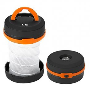 LE Collapsible LED Camping Lantern best hiking flashlight from camping things to pack for eurocamp tent lights