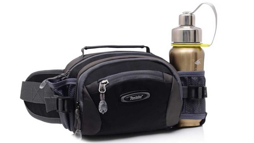 Top 5 SMALL day bags and waist packs Hugaily Camping Waist Pack Bum bag with Water Bottle Holder for walking