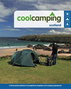 Cool Camping book on Scotland secret campsites guide to camping in Scotland and UK campsites