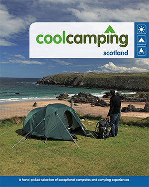 Cool Camping book on Scotland secret campsites guide to camping in Scotland and UK campsites campsite book