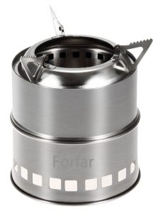 Forfar camping stove portable stainless steel stove charcoal solidified alcohol wood camp stove best camp stove for trekking guide