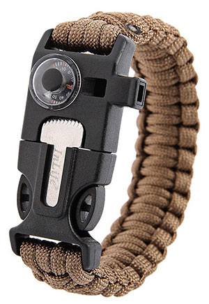 Inlife Survival Bracelet Multifunctional 5 in 1 Outdoor Survival Thermometer Knitted Survival Bracelet Flint Fire Starter Scraper top 5 best camping gadgets