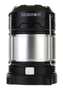 camp flashlight to take trekking SUBOOS Ultimate Rechargeable LED Lantern and Power Bank for hiking trip