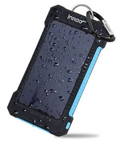 portable power for hiking gear for trekking iphone charger Innoo Tech Solar Charger for trekking Solar Power Bank