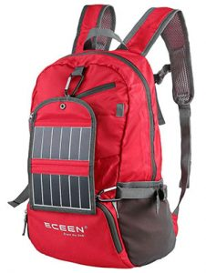 camping portable power guide ECEEN Solar Powered Hiking Daypacks with 3.25 Watts Solar Charger for Hiking gear for trekking