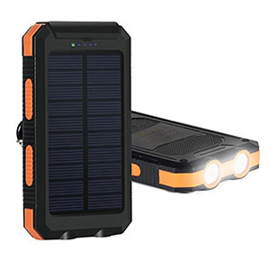 usb portable power charger for iphone Solar Charger for camping things to take travelling Hiluckey Solar Panel Portable Battery Charger