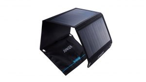 Anker 14W Solar Panel Foldable Dual port Solar Charger camping things to pack for hiking in backpack