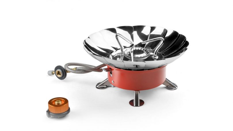 Camping Stove ODOLAND Camping things for Backpacking Kit Collapsible Portable Outdoor Camping Propane Gas Burner