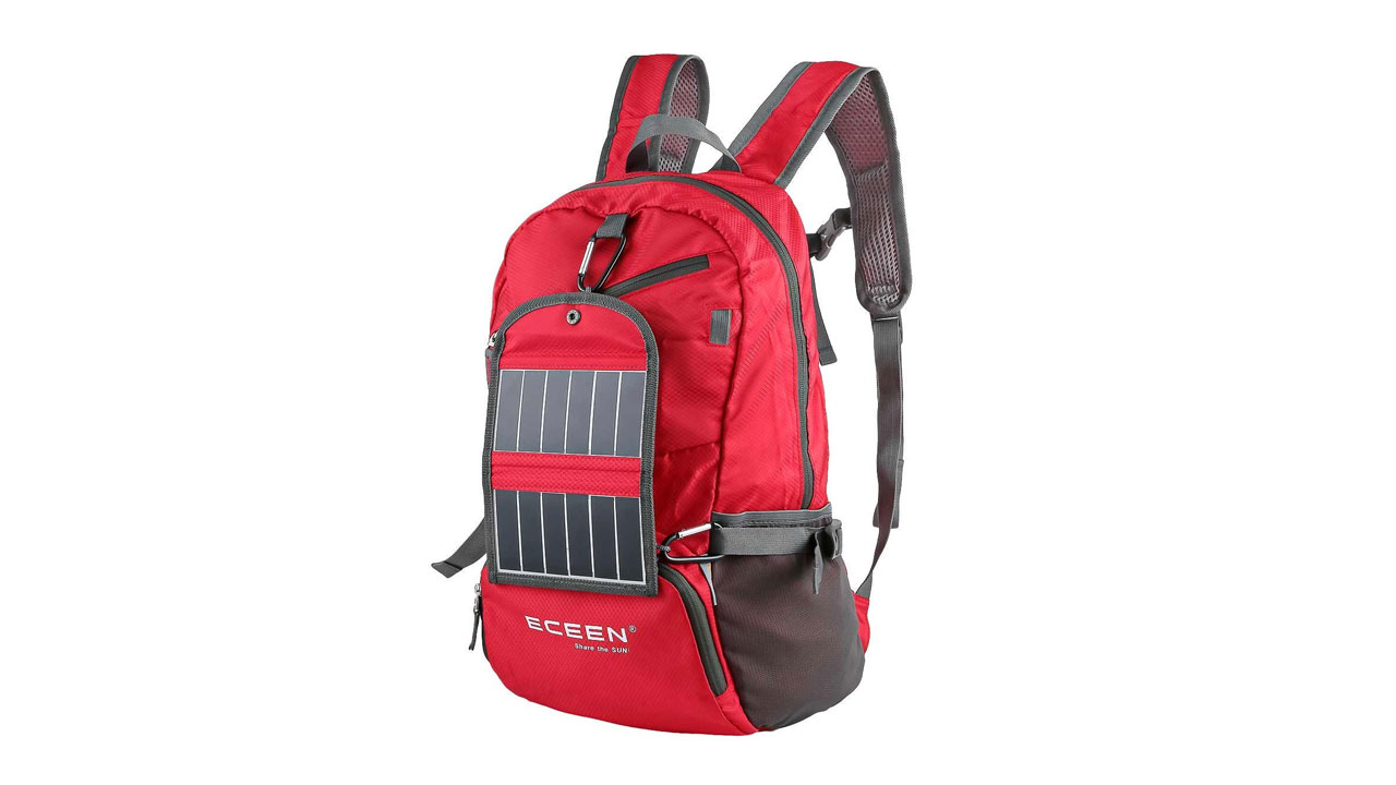 Eceen Solar Powered Hiking Daypacks With 3 25 Watts Solar