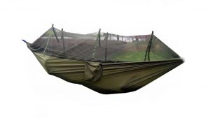 Top 5 Best Camping Hammocks FOME Portable High Strength Parachute Fabric Hammock Hanging Bed With Mosquito Net