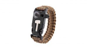 Inlife Survival Bracelet Multifunctional 5 in 1 Outdoor Survival Thermometer Knitted Survival Bracelet Flint Fire Starter Scraper