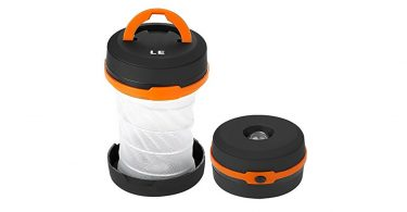LE Collapsible LED Camping Lantern best hiking flashlight from camping things to pack for eurocamp
