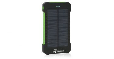 Solar Charger Hiluckey USB Solar Panel Portable Battery Charger Solar Power bank camping things to bring camp