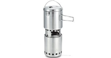 Solo Stove Titan 1800 Camp Stove Combo Woodburning Backpacking Stove great for Camping things to pack for Survival weekend