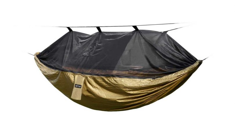 Top 5 Best Camping Hammocks camping things to take trekking OUTAD Nylon Hammock with Mosquito Net for backpacking
