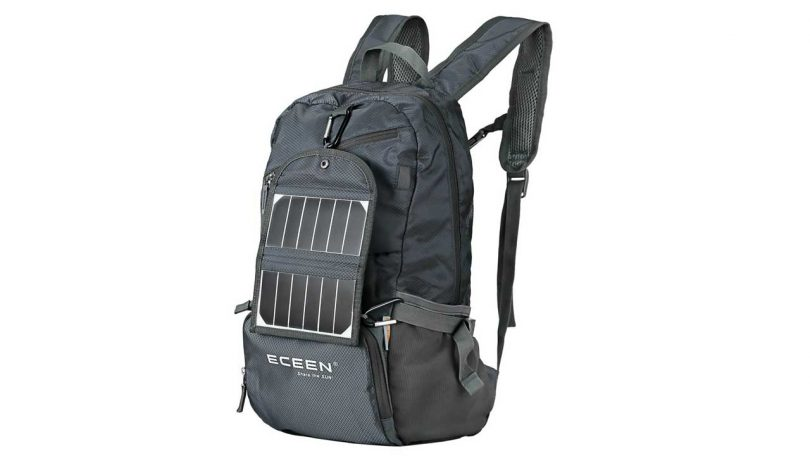 Best MEDIUM Rucksack & Backpacks up to 50L camping things to take trekking ECEEN Solar Powered Daypack with Solar Charger