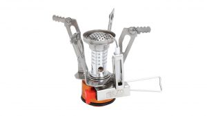 EZOWare Portable Folding Lightweight Mini Outdoor Backpacking Camping Stove Burner for Travel Mountain Climbing and trekking